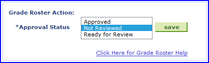 Approval Status screen shot