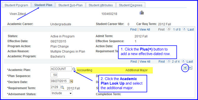 Student Plan-Academic Plan Look Up