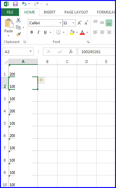 New Excel file