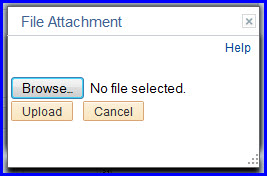 File Attachment Upload dialog box